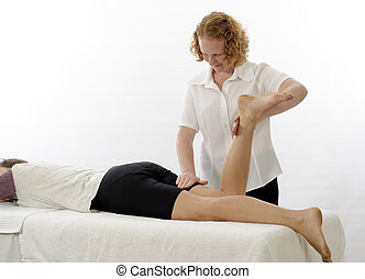 Kinesiologist treating Hamstrings - Kinesiologist or...