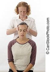 Kinesiologist treating Neuro vascular holding