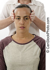 Kinesiologist treating Neuro vascular holding -...