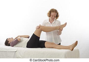 Kinesiologist treating Piriformis