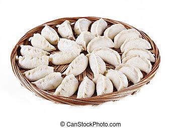 kinesisk, äppelmunkar, traditionell
