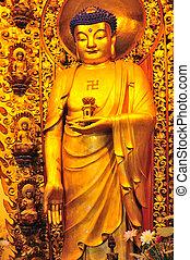 kinesisk, buddist, tempel