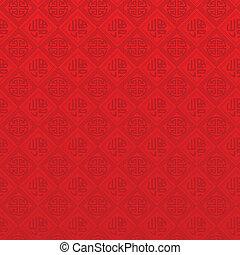 kinesisk, mønster, seamless, orientalsk, år, nye