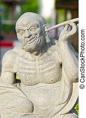 kinesisk, statyer, skulptur
