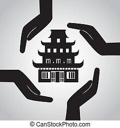 kinesisk, tempel
