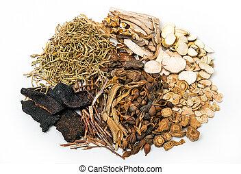 kinesisk, traditionell, ört medicin