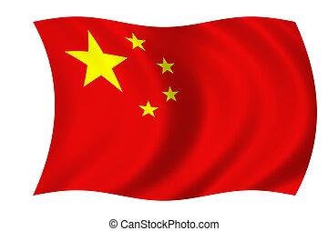 kinesiskor flaggar