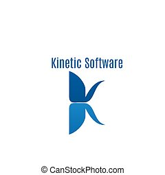 Kinetic software abstract icon - Kinetic software vector...
