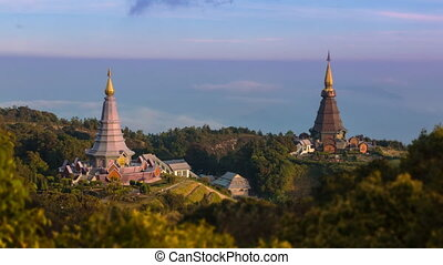 King and Queen Pagoda Of Thailand