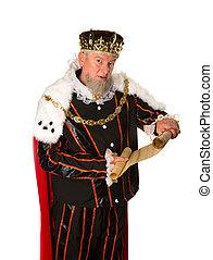 King announcement - Senior king making an announcement...