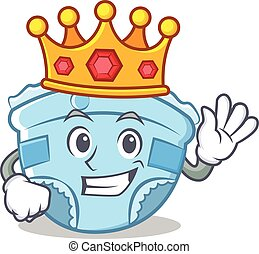 King baby diaper character cartoon