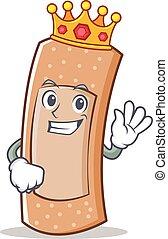 King band aid character cartoon vector illustration