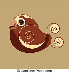 King Bird cute bird abstract prehis