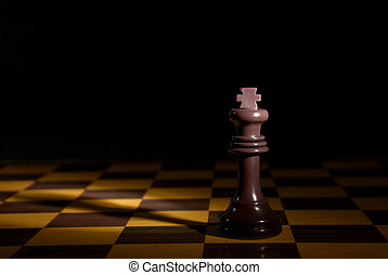 King - Black king on the chess board
