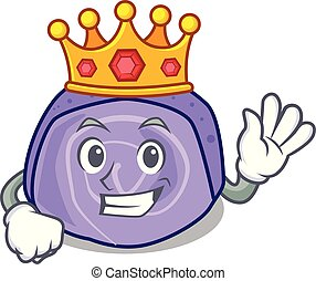 King blueberry roll cake mascot cartoon