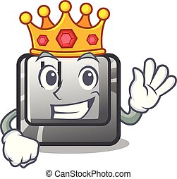 King button H on a the character