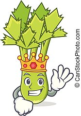 King celery mascot cartoon style
