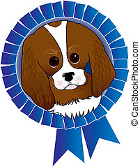 King Charles Spaniel - Cavalier King Charles Spaniel with a...