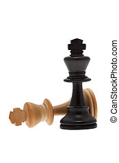 King Checkmate in front of white background