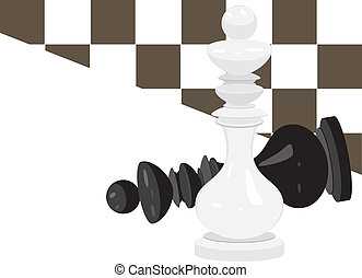 King chess. Abstract background. Vector illustration