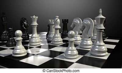 king chess fall down animation. - Put the king on a...