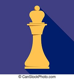 King chess icon, flat style