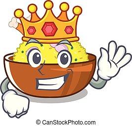 King chicken biryani with in cartoon shape