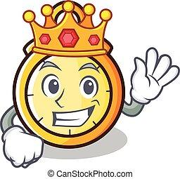 King chronometer character cartoon style