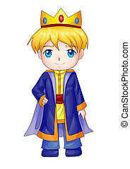King - Cute cartoon illustration of a king