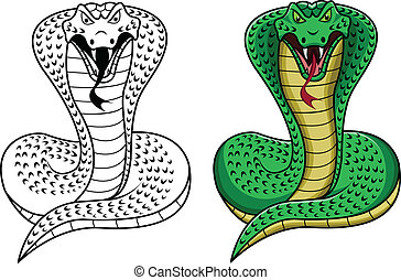 king cobra - illustration of king cobra