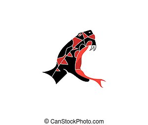 King cobra snake icon vector illustration