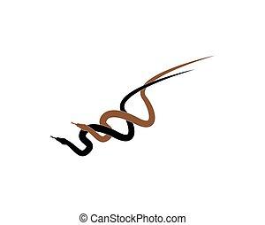 King cobra snake icon vector illustration
