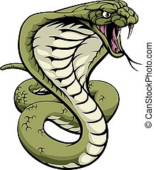King Cobra Snake - An illustration of a king cobra snake...