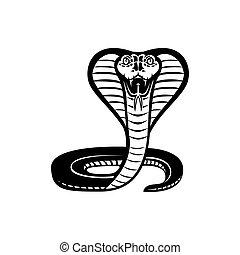 king cobra Sport snake mascot vector illuatration