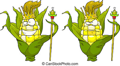 King corn on a white background vector illustration
