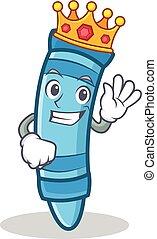 King crayon character cartoon style