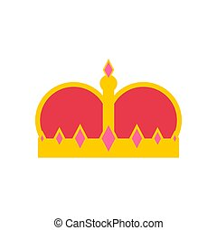 King Crown isolated. Royal Cap vector illustration