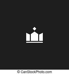 King crown mockup logo, design success royal icon
