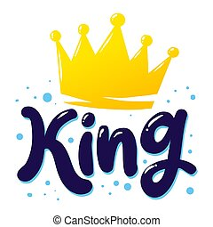 King Crown Word Text