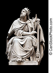 King David by Adamo Tadolini on the base of the Colonna...