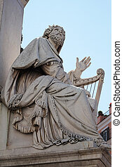 King David statue on the Column of the Immaculate Conception...