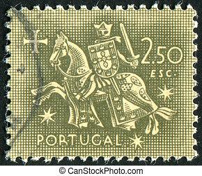 King Diniz - PORTUGAL - CIRCA 1954: stamp printed by...