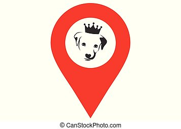 king dog location logo