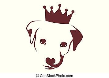 king dog logo vector