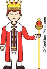 King doodle cartoon