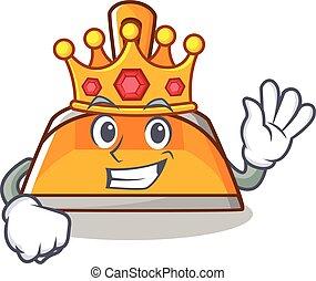 King dustpan character cartoon style vector illustration