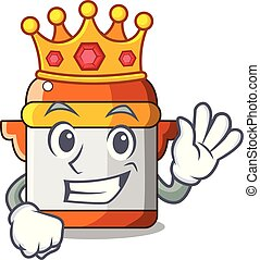 King electric pressure cooker isolated on mascot
