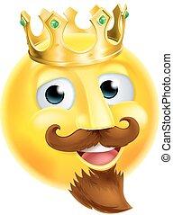 King Emoji Emoticon - A cartoon king emoji emoticon...