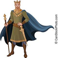 King - Illustration of majestic king