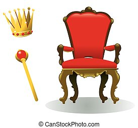 king equipment - all you need to be a king! a vector cartoon...